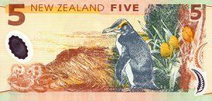 Novozélandská pětidolarová bankovka